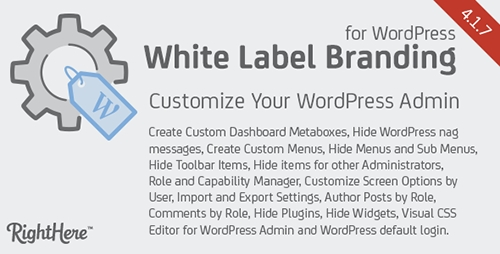 CodeCanyon - White Label Branding for WordPress v4.1.7.7615 - 125617