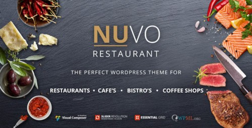 NULLED NUVO v6.0.1 - Restaurant, Cafe & Bistro WordPress Theme
