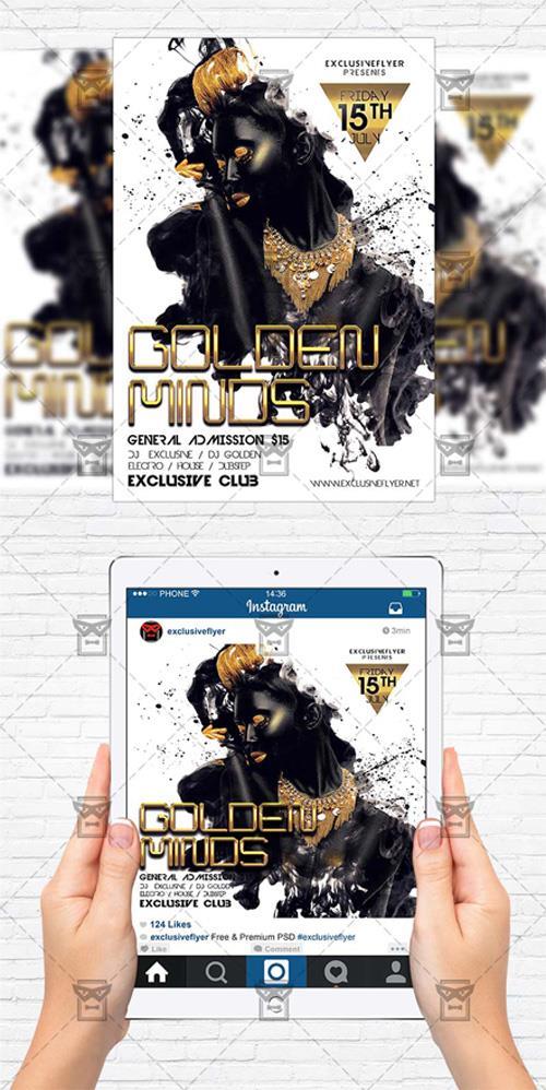 Flyer Template - Golden Minds