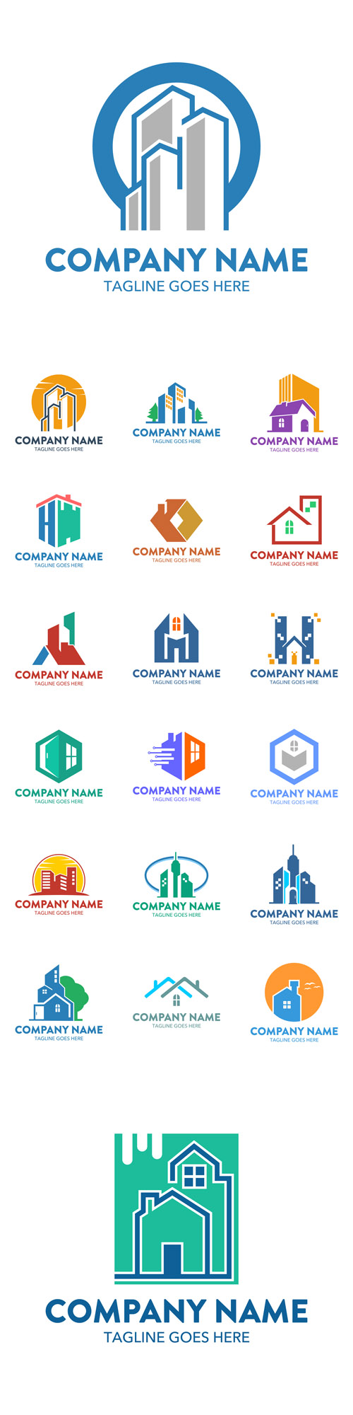 Vector Building Logotypes