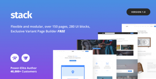 [GET] Nulled Stack - Multi-Purpose Theme with Variant Page Builder product snapshot