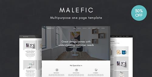 ThemeForest - Malefic v1.0.1 - Multipurpose One Page HTML5 Template - 19732188