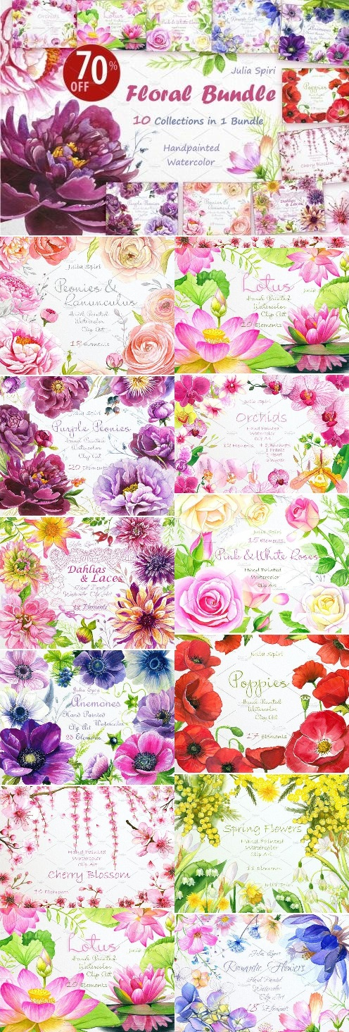 Floral BUNDLE 10 in 1 - 1594341