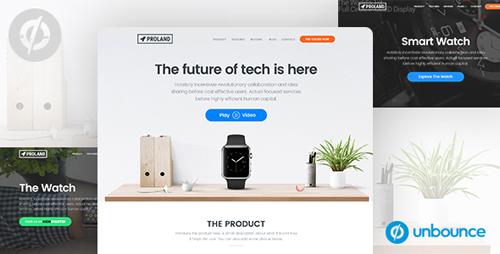 ThemeForest - Unbounce Product landing Page Template - Proland v1.0 - 17125668