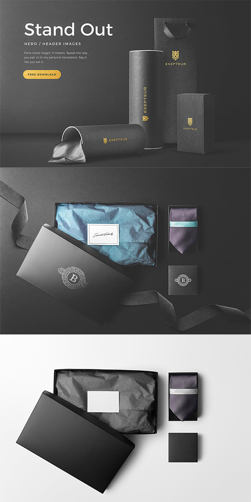 PSD Box Packaging Mockups Vol. 3