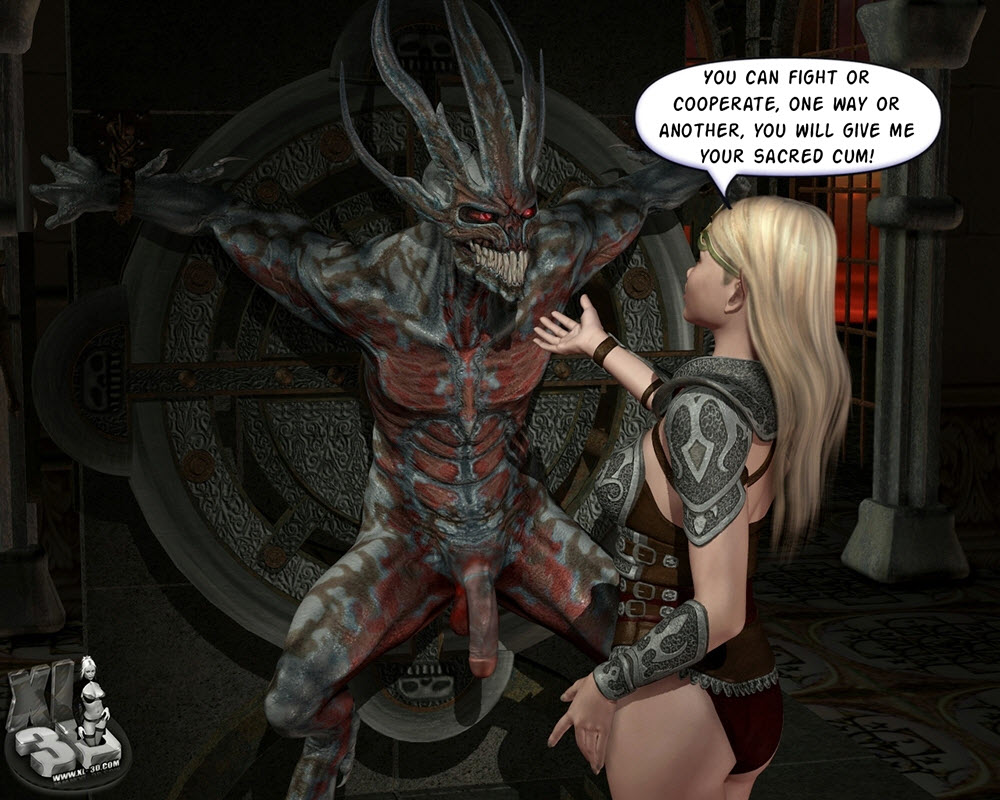 XL3D Hot elf lady has kinky sex with a demon