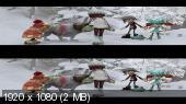 Снежная битва 3D / La guerre des tuques 3D / Snowtime 3D Вертикальная анаморфная стереопара
