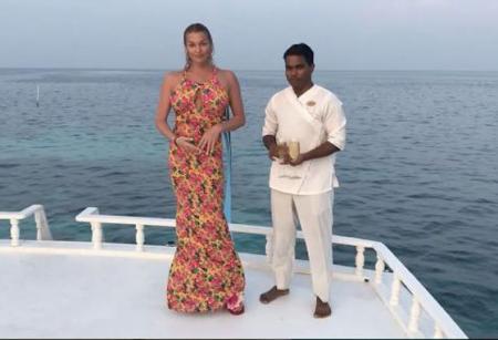 Анастасия Волочкова отдыхает на Мальдивских островах