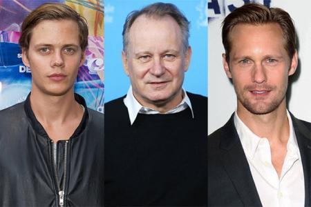 Стеллан Скарсгард, Билл Скарсгард и Александр Скарсгард. Оба мальчика, как и отец в шоу-бизнесе.
