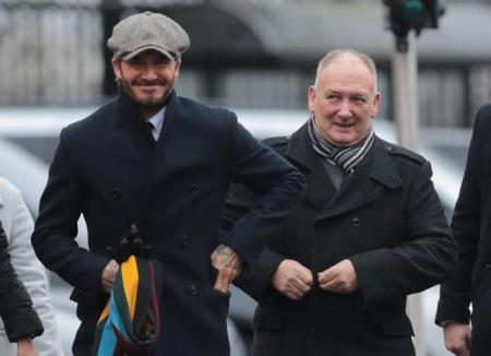Три поколения: Дэвид Бекхэм сходил на футбол с отцом и сыном