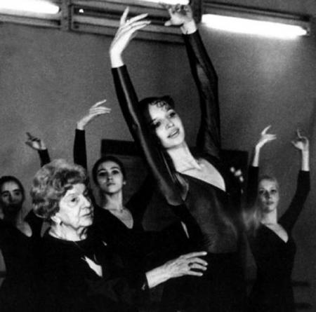 Анастасия Волочкова на репетиции