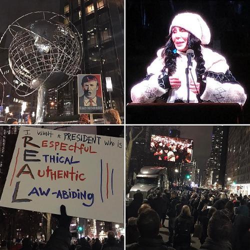 Звезды Голливуда вышли на улицы с лозунгами против Дональда Трампа