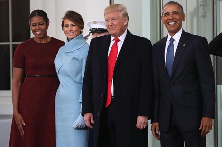 Смена караула: Барак и Мишель Обама