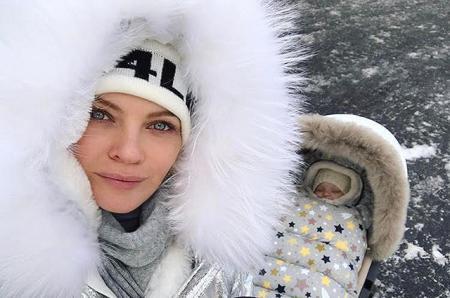 Елена Кулецкая с дочкой