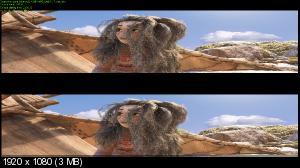 Моана 3D / Moana 3D ( BY ASH61) Вертикальная анаморфная стереопара