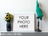 Рамки для фото - 10 Minimalist White Mockup Frames