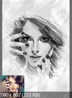 GraphicRiver - Black & White Artistic Photo Manuolation (2017)