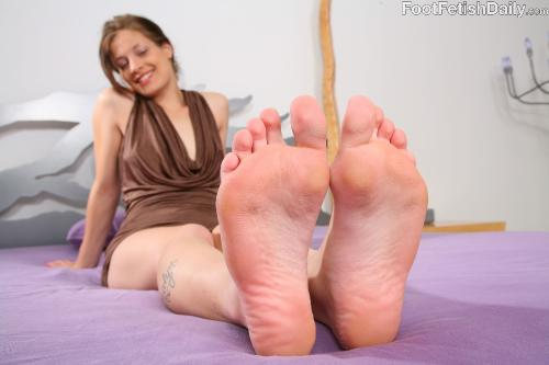 public in Foot fetish