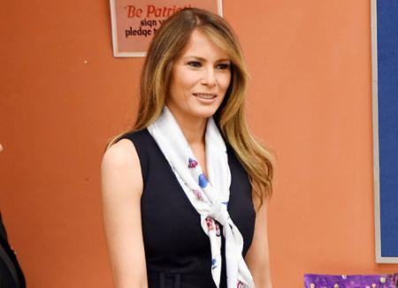 Мелания Трамп произвела фурор в арт-школе Палм-Бич