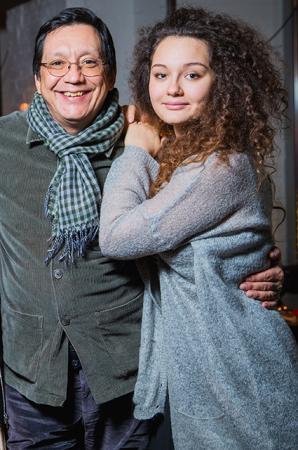 Егор Кончаловский с дочерью Машей