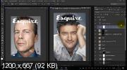 Мужской портрет в стиле журнала Esquire в PS (2017)