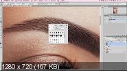 Салон красоты в Photoshop. Ретушь бровей (2017)
