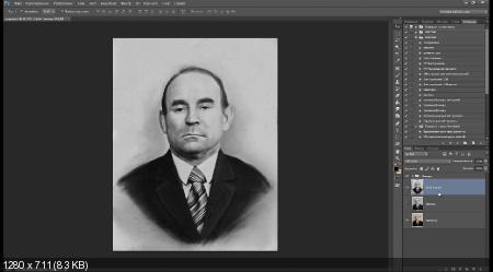 Детальное увеличение мелкой фотографии до большого портрета (2017) HDRip