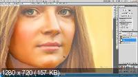 Обработка портрета Девушка с цветами (2017)