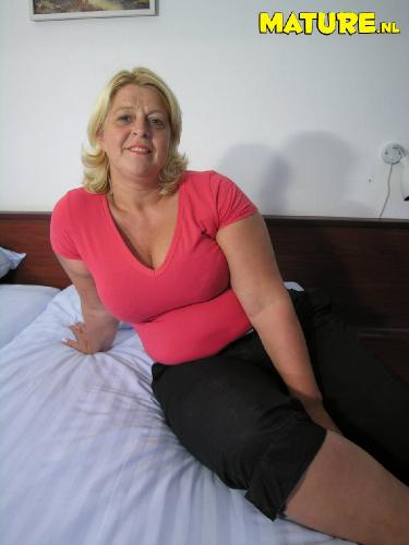 Mature business women in stockings