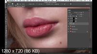 Beauty женская ретушь. Вариант сложных губ (2017)