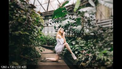 Фотосессия в оранжерее ботанического сада. Shooting in Botanical garden (2017)