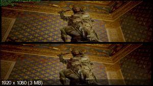 Флоренция и Галерея Уффици 3D  / Firenze e gli Uffizi 3D/4K ( by Ash61) Вертикальная анаморфная стереопара