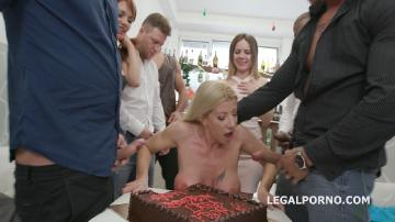Happy B-day Lara De Santis! anal madness party with squirt cocktail, balls deep anal, DAP, TP, anal fisting GIO836 (2018) HD 720p