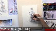 Секреты рисования стекла и напитков. Акварель (2018) Видеокурс