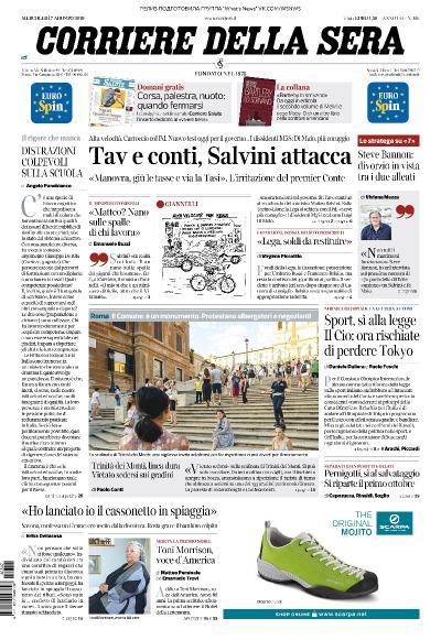 Corriere della Sera   07 08 (2019)