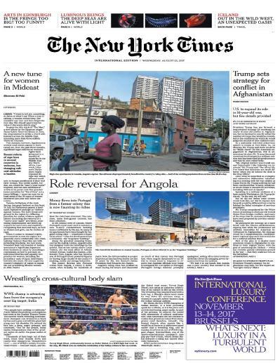 International New York Times  23 August (2017)