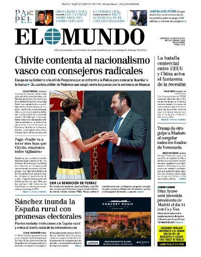 El Mundo   07 08 (2019)