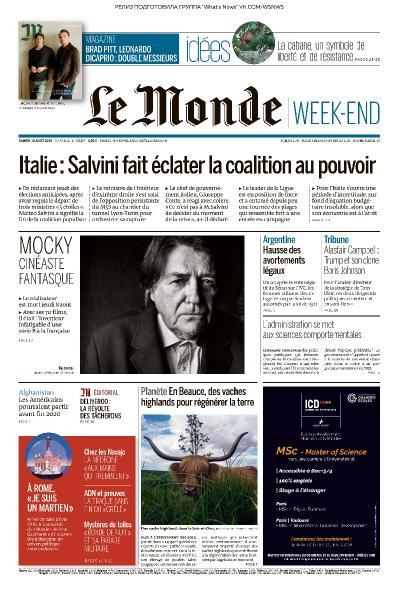 Le Monde   10 08 (2019)