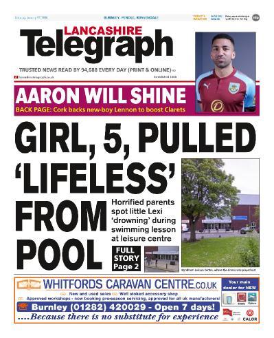 Lancashire Telegraph Burnley Pendle Rossendale  January 27 (2018)