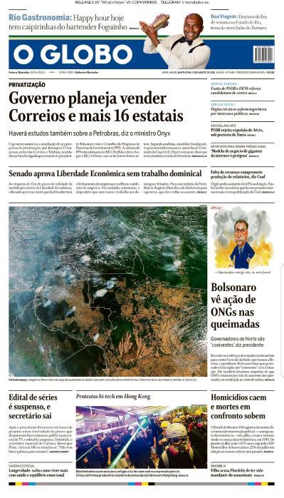 O Globo - 22 08 (2019)