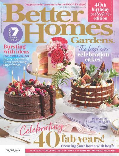 Better Homes and Gardens Australia - August (2018)