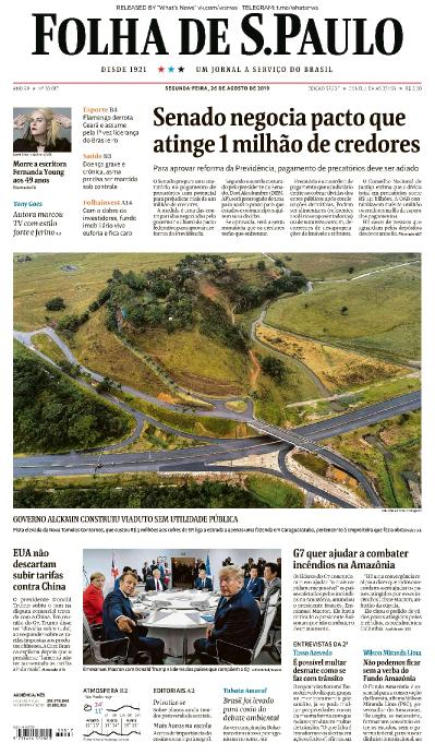 Folha de S 227 o Paulo - 26 08 (2019)