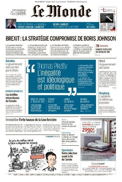 Le Monde - 06 09 (2019)