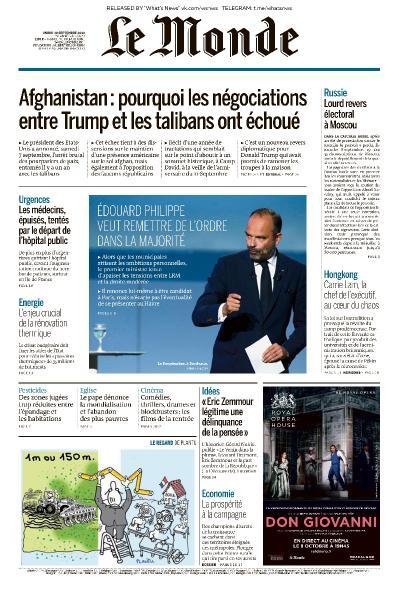 Le Monde - 10 09 (2019)