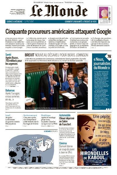 Le Monde - 11 09 (2019)