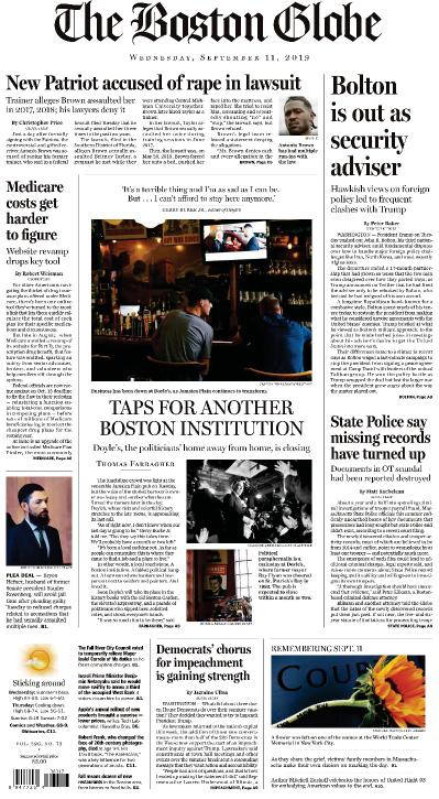 The Boston Globe - 11 09 (2019)