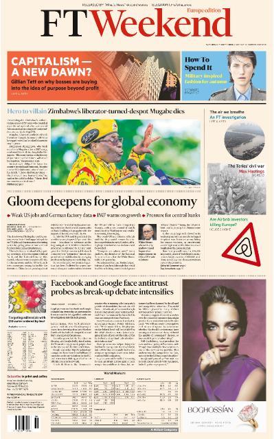 Financial Times Europe - 07 09 (2019)