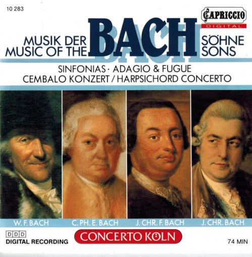 BACH   Music Of The Bach Sons  W F, C P E, J Chr F, J Chr   Concerto Köln   Gerald...