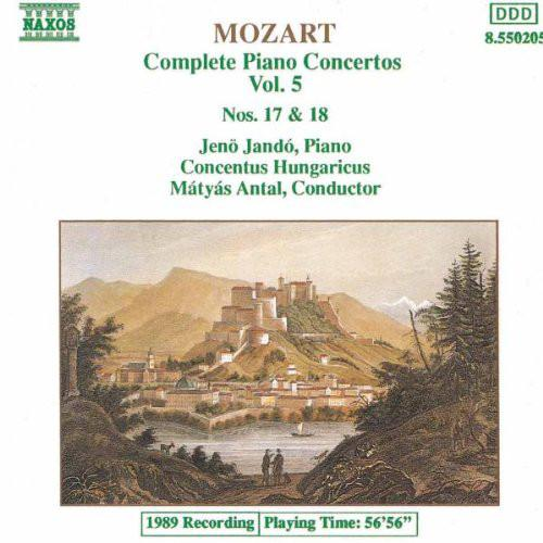 Mozart   Complete Piano Concertos  Nos  17 & 18   Concentus Hungaricus   Jenö Jand...