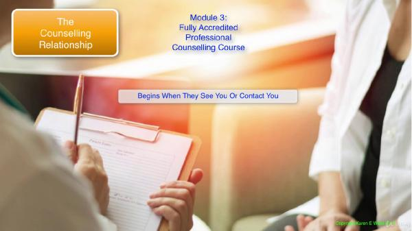 Fully Accredited Professional Counselling Diploma Course